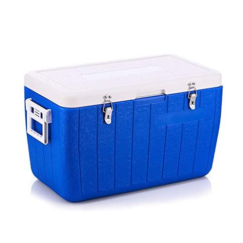 Cooler Box Groot, Plastic Blauw gemakkelijk te dragen Isolatie Doos Multifunctionele Draagbare Koude Ketting Doos Auto Koelkast Ice Box Koeler