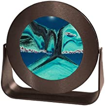 Exotic Sands Sand Pictures - Rd31 Small Round Black Frame (Deep Sea Ocean Blue) American Made Quality Great
