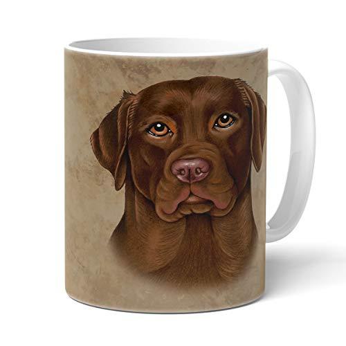 Power Gift Labrador Chocolate Tasse mit Spruch, Tasse Hund und Frauchen, Animal Crossing-Becher – Für Dich/Lustige Texte/Tasse Weihnachten/Personalisierte Tasse/Kaffeetasse Groß Labrador