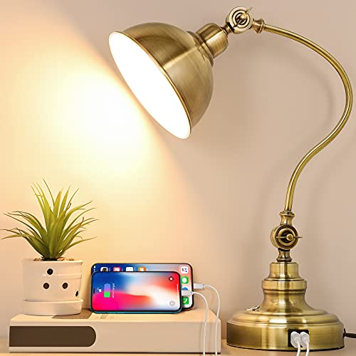 LED Desk Lamp with 2 USB Charging Ports,...
