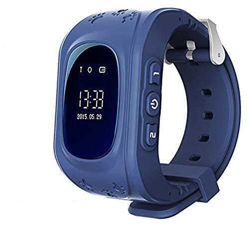 Localizzatore GPS Smartwatch per Bambini, Orologio Telefono con GPS Locator Chat SOS Vocale Anti-lost da Polso Ragazzi Ragazze Bracciale Regalo Compatibile con Controllo Genitore Smartphone, Blu scuro