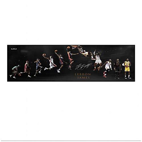 Baloncesto StarBasketball Dream Art Posters e impresiones Pinturas en lienzo Imágenes artísticas de pared para la decoración de la sala de estar 40x120cm (Sin marco) artppolr