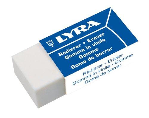 Lyra Radiergummi Kunststoff, Orlow Techno MINI, 1 Stück, Weiß, 7413300