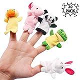 THE TWIDDLERS 20 Marionetas para Dedos con Animales adorables en múltiples Colores Detalles de Fiesta - Rellenos de Bolsas de Fiesta y Calcetines - Premios de Clase