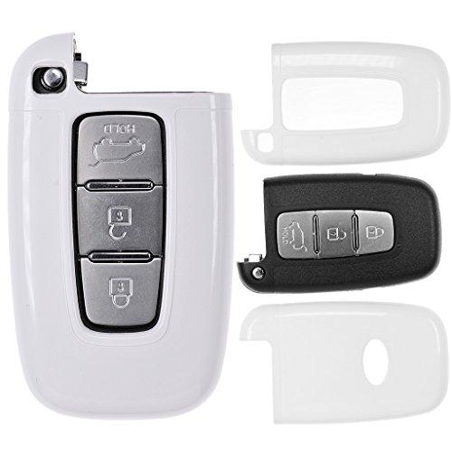 Auto Schlüssel Cover Hülle für Hyundai i10 i20 ix35 Kia Ceed Soul Sportage/Farbe: Weiß