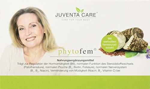 Juventa Care phytofem - Nahrungsergänzungsmittel-trägt zur Regulation der Hormontätigkeit (B6), zur normalen Funktion des Steroidhormonstoffwechsels, 60 Kapseln