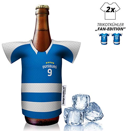 vereins-Trikot-kühler Home für MSV Duisburg-Fans | 2er Fan-Edition| 2X Trikots | Fußball Fanartikel Jersey Bierkühler by ligakakao.de