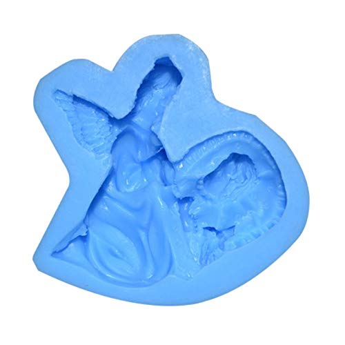 Mother's Day Silicone Angel DIY Chocolate Cupcake Cake Muffin Baking Mold,Cake Mould Personalised DIY Mothers Day Gifts(Blue)