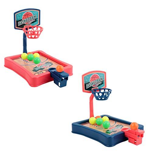 TOYANDONA 2 Sätze Basketball-Schießspiel Desktop-Tisch-Basketball-Spiele Indoor-Basketball-Schießspiel Schreibtischspiel Spaß Sport Spielzeug