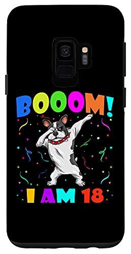 Galaxy S9 Dabbing French Bulldog - Booom! I Am 18 Kids 18th Birthday Case