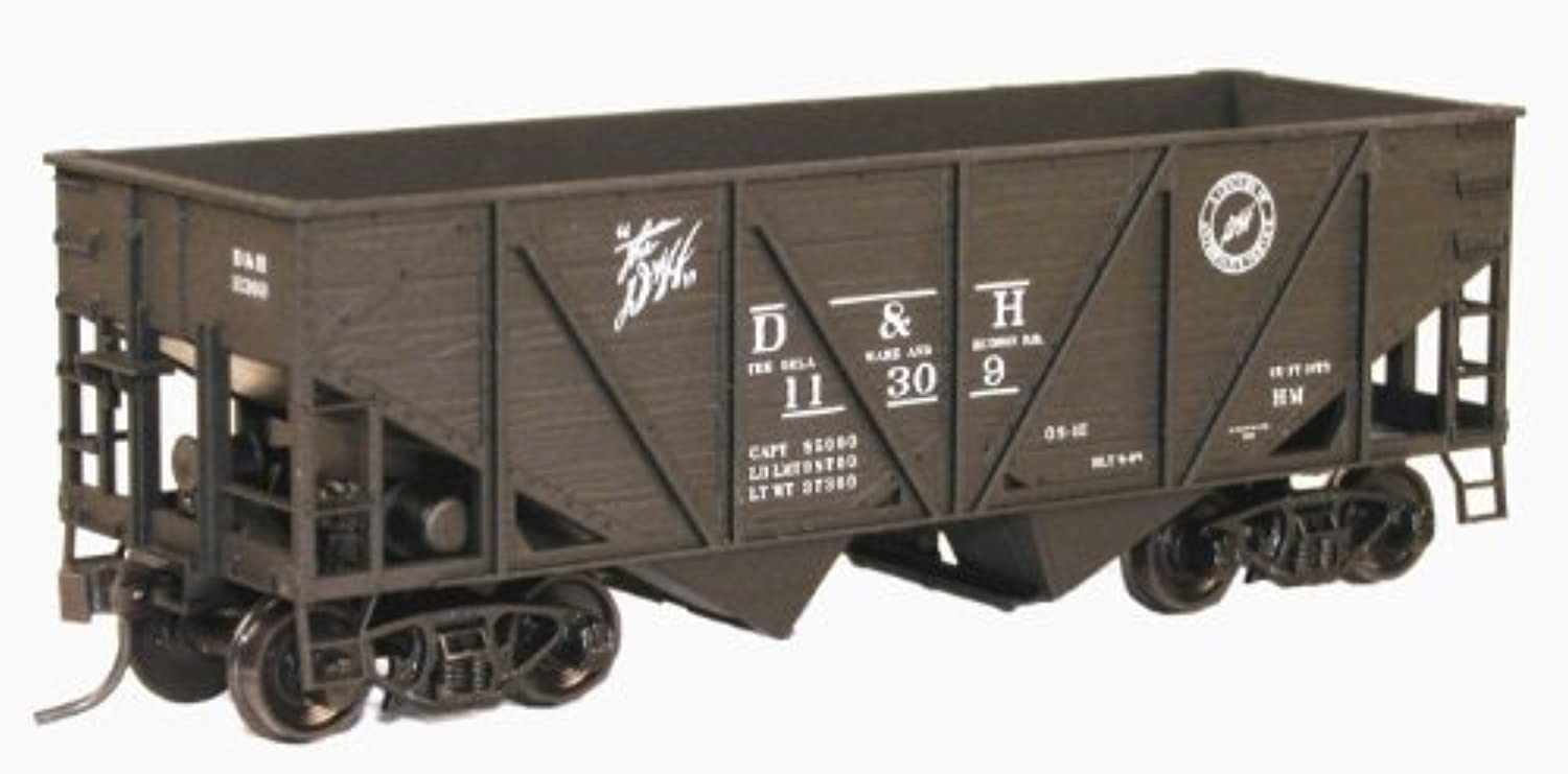 HO KIT 55Ton Wood Twin Hopper, D&H by Accurail