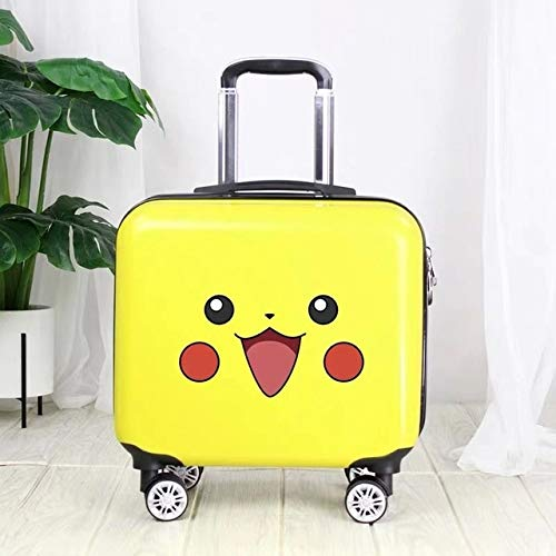 Mdsfe Travel suitcase with wheels trolley luggage set 18 '' kids Cartoon carry on suitcase cabin luggage children's gift backpack girls - luggage