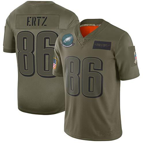 cjbaok NFL Fußball Trikot Philadelphia Eagles Wentz # 11 Dawkins # 20 ERTZ # 86 Kurzarm Top T-Shirts (Grün),Green-86,L