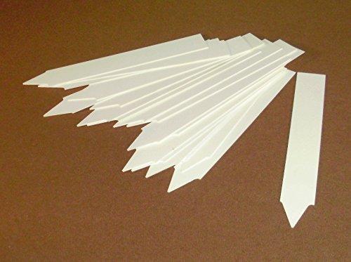 GFi-Lights Lot de 40 étiquettes en Plastique Blanches pour Plantes