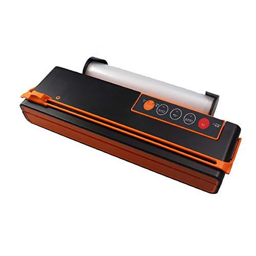 Máquina Selladora Al Vacío Doméstico Con Cortador Portátil Multifuncional Envasadora Vacío Para Alimentos Sólidos Y Líquidos,Black+red,40cm