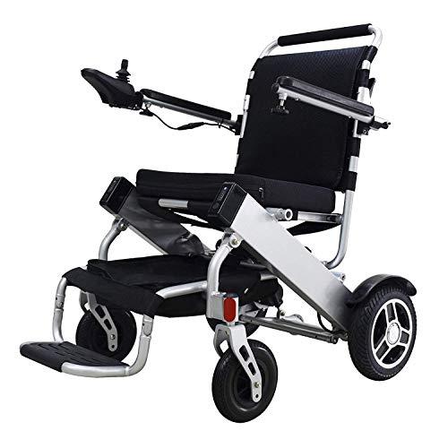 FEEE-ZC Silla de Ruedas eléctrica Plegable Silla Inteligente portátil Ligera Silla de Ruedas para Scooter de Movilidad Personal