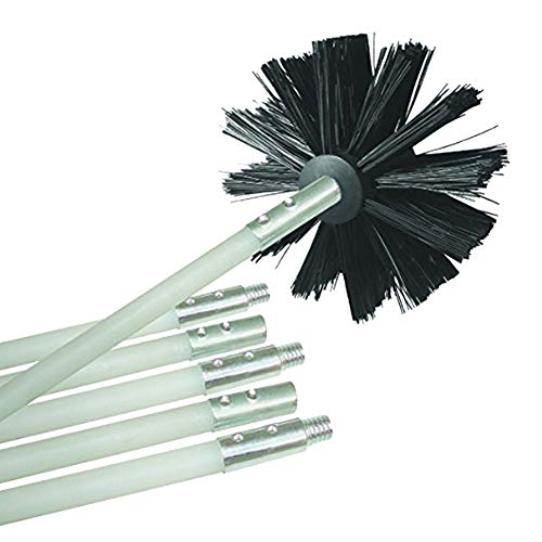 P12cheng cepillo de limpieza para taladro, cepillo limpiador de tuberías de chimenea flexible de nailon, herramienta de limpieza de barrido, color negro