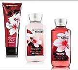 Japanese Cherry Blossom Gift Set - 3 Piece Bath and Body Works Gift Set - Japanese Cherry Blossom Lotion + Ultra Shea Triple Moisture Cream + Shower Gel
