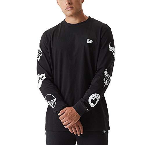 New Era Camiseta de Manga Larga Modelo NBA EASTWEST Coast L Sleeve T NBALOG Marca