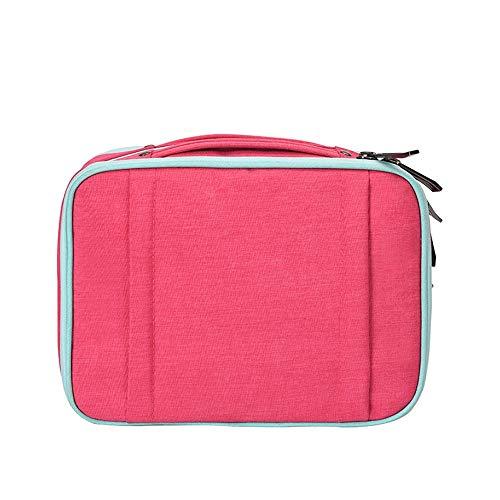 BLWX - Sac de cosmétique Wash Cosmetics Storage Bag Portable Travel Lady Boîte de finition multifonctions de grande capacité Boîte de rangement cosmétique (Couleur : E)