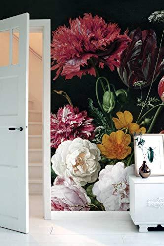 KEK Amsterdam fotobehang Golden Age Flowers 2, 292,2 x 280 cm (194,8 cm x 280 cm, kleurrijk)