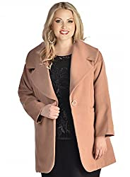 Igigi Plus Size Jacket in Camel
