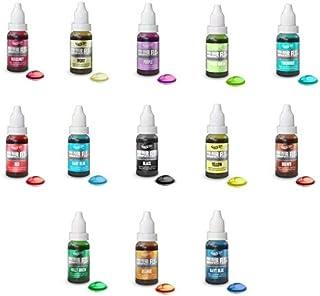 COLOR FLO - 13 X Colorantes líquido alimentario muy concentrado para aerógrafo,mezclas de azúcar, cremas, pastele
