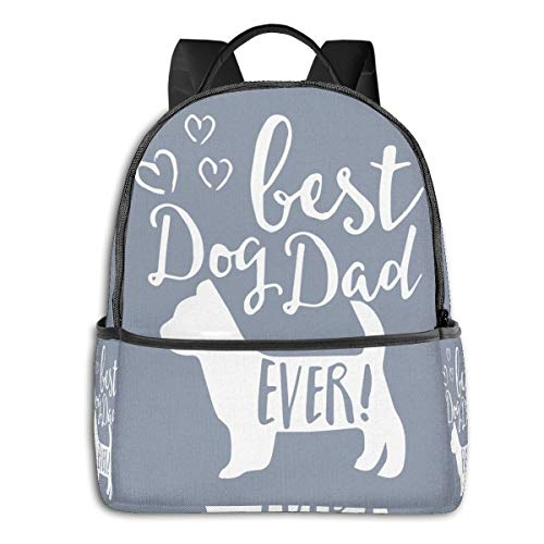 Best Dog Dad Greatfashion School Backpack Unisex Classic Lightweight Backpack Printing Cute for Boys Girls High School College Schoolbag Sloth