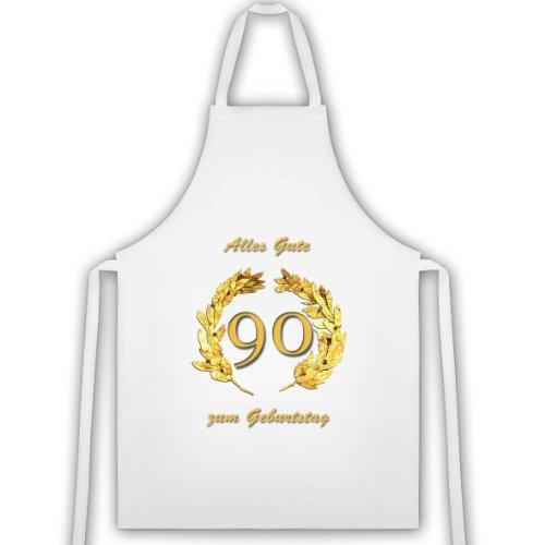 Rahmenlos tablier &le «90» ans, gold. idée cadeau