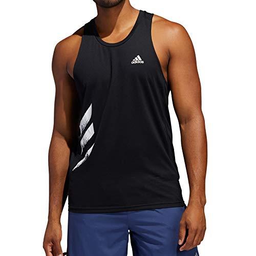 adidas Otr Singlet 3s Camiseta sin Mangas, Hombre, Black, L