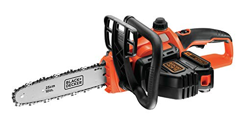BLACK+DECKER GKC1825L20-QW GKC1825L20-QW Tronçonneuse sans fil - 2 Ah - 3,5 m/s - 1 batterie - Double interrupteur de sécurité et protection main gauche 1600W, 18V Orange, 25 cm