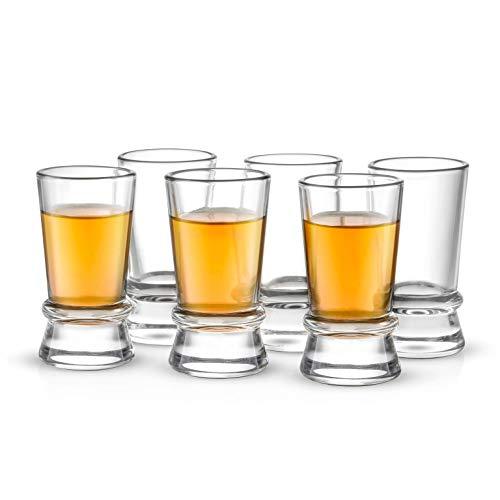 JoyJolt Afina Heavy Base Shot Glasses (Pack of 6) - 1.5-Ounces