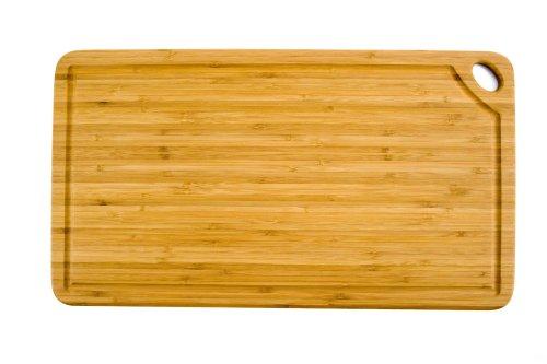 Totally Bamboo BA202258 Planche à découper Greenlite avec rigole en bambou 50 x 27,5 cm