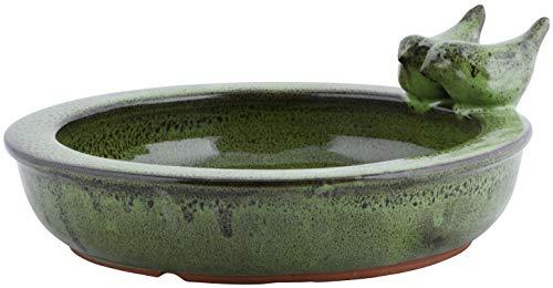 Unbekannt Vogeltränke Esschert Design rund grün Vogelbad Vogelbecken Futterschale Terracotta Wasserstelle