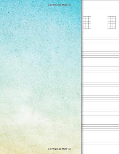 Ukulele Tab Notebook: 4 String Chord and Tablature Staff Music Paper for Ukulele Players, Musicians, Teachers and Students (8.5