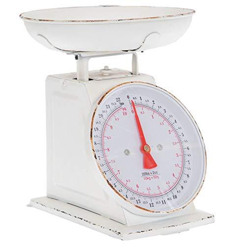 Everydecor White Vintage Kitchen Scale Decor
