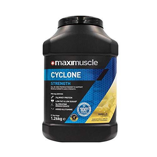 MAXIMUSCLE Cyclone Protein Powder Vanilla Flavour,1.26 kg