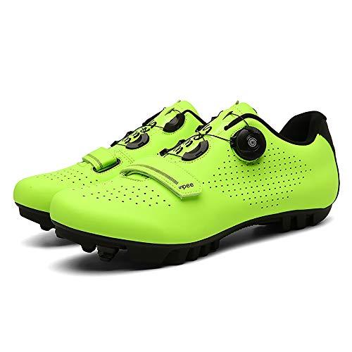 CHANGAN Elite SPD MTB Radschuhe für Männer Frauen ideal für Mountainbike, Cyclo Cross Country XC Bikes in inklusive Yellow-38