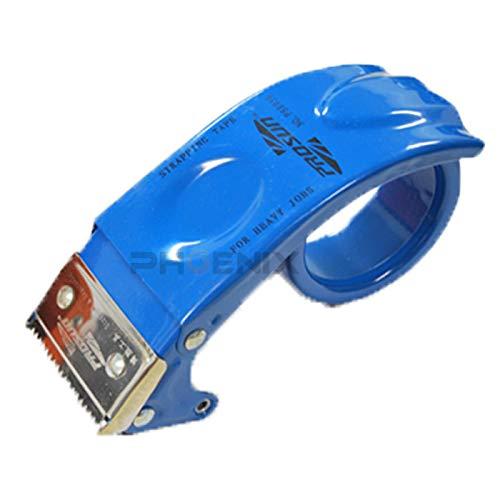 テープカッター 金属製 テープ ガムテープ OPPテープ ハンドテープカッター 梱包 荷造り 引っ越し 壊れにくい 丈夫 テープカッター,青