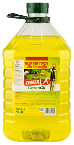 Olio alla citronella per torcia fiaccola 5 lt scaccia repellente zanzare lampade giardino estate - Cura Farma