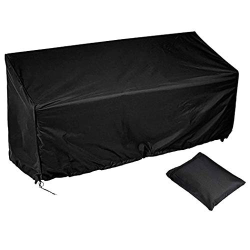 InkFenm Garden Furniture Covers, Waterproof Heavy Duty Bench Cover Black Patio Watcher Outdoor Furniture Cover Sofa, for Outdoor Indoor Garden Furniture,250X250X90cm/98X98X35.5inch