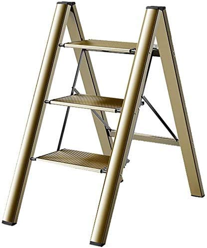 GUOXY Multifunktions-Multi-Use-Leiter Heavy Duty Stufenleiter Folding Leichte Leitern Mit Stabilem Aluminium Und Anti-Rutsch-Weit Pedale Für Heim Küche Büro Schritt Hocker Tragbare Trittleiter Stairw