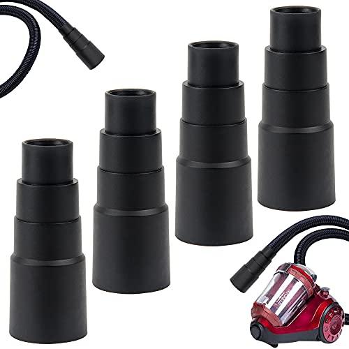 4 Stück Staubsauger Adapter,Adapter Werkzeu Adapterwerkzeug Staubsauger,Geeigneter Staubsaugeradapter,Robuster Staubsaugeradapter,für Verschiedene Elektrowerkzeuge und Werkstatt Zubehör