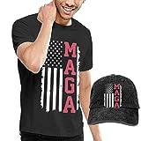 NDNG Maga American Flag Washed Baseball-Cap + T-Shirt Combo Set