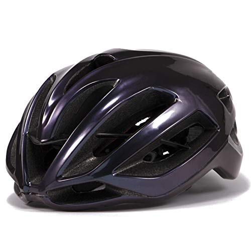 Cycling Helmet - Bicycle Summer Equipment Hat Men And Women Mountain Safety Road Bike Bicycle Ultra Light Pneumatic Safety Hat Enjoy the breeze (Color : Purple, Size : Medium)