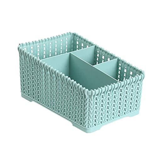 zhppac kitchen baskets plastic bedroom storage baskets small box for storage storage baskets for shelves wicker baskets for storage blue