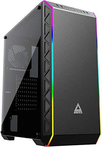 Montech Flusso d'Aria Elevato/Ventole silenziose/E-ATX/ATX/Micro ATX/Mini ITX/Case PC per Computer da Gioco(Nero) Montech Air900 ARGB-Nero