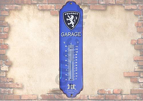 RaceFlag Thermomètre Métal sous Licence Peugeot Garage