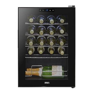 Baridi 20 Bottle Wine Cooler, Fridge, Digital Touch Screen Controls & LED Light, Low Energy A, Black by Dellonda