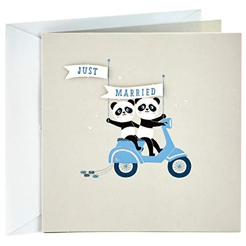 Hallmark Studio Ink Wedding Greeting Card (Pandas)